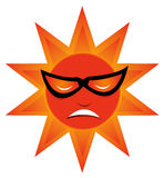 Cool sun. And This is a happy sun Royalty Free Stock Photo