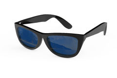 Cool Sunglasses In Black Plastic Frame. 3d Rendering Royalty Free Stock Photography