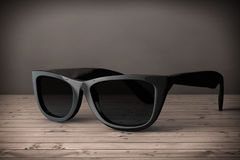 Cool Sunglasses In Black Plastic Frame. 3d Rendering Stock Images