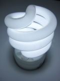 Cool swirl 2. Close up of fluorescent energy saving bulb Stock Photo