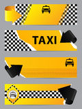Cool taxi company banner set of 4 Stock Photo