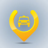 Cool taxi gps pointer Royalty Free Stock Photos