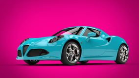 Cool teal modern sports car Stock Image