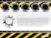 Cool technology web template Stock Image