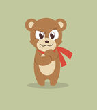 Cool teddy bear. Illustration of a cool teddy bear Stock Images