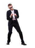 Cool teen dancing Stock Photo
