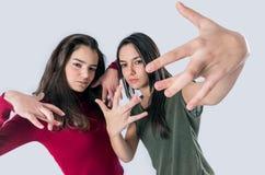 Cool Teen Girls Royalty Free Stock Photo