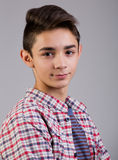Cool teen portrait. Studio shot Royalty Free Stock Image