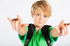 Cool teenage boy Stock Photos