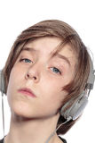 Cool teenage boy with headphones Royalty Free Stock Photo