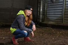 Cool teenage girl Stock Photos