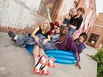Cool teens hanging out Royalty Free Stock Image