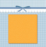 Cool template frame design for greeting card Royalty Free Stock Image