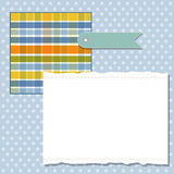 Cool template frame design for greeting card Stock Image