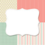 Cool template frame design for greeting card Royalty Free Stock Photo