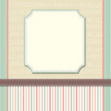 Cool template frame design for greeting card Royalty Free Stock Photography