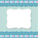 Cool template frame design for greeting card Royalty Free Stock Photos