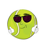 Cool tennis ball cartoon Stock Images