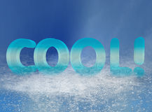 Cool Text. 3D and photoshop rendering of the word cool stock illustration