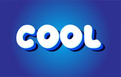 Cool text 3d blue white concept vector design logo icon Royalty Free Stock Image