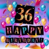 Cool 36 th urodziny świętowanie Zdjęcie Stock