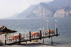 Cool time at Lago di Garda, Italy Royalty Free Stock Photos