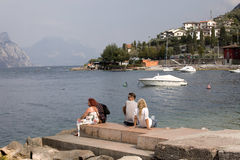 Cool time at Lago di Garda, Italy Stock Images