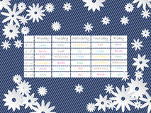 Cool timetable template design with flowers Royalty Free Stock Photo