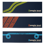 Cool tire track design banners Stock Image