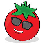 Cool tomato. Cartoon illustration of a cool tomato wearing sunglasses Stock Photography