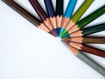 Cool tone color pencil. Cool tone of eleven color pencil Stock Images