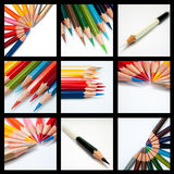 Cool tone color pencil Stock Image