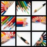 Cool tone color pencil stock image