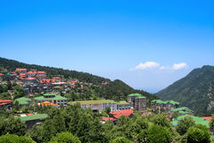 Cool town in chinese lushan Royalty Free Stock Image