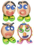 Cool toy Easter eggs set stock photo