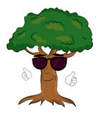 Cool tree cartoon Royalty Free Stock Images
