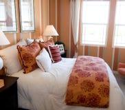 Cool trendy bedroom interior design Stock Photos