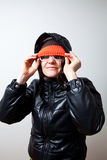 Cool trendy young woman Stock Photo