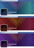 Cool triangle abstract face book page cover banner and backgroun Royalty Free Stock Photo