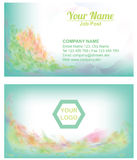 Cool Turqouish Floral Abstract Businesscard background template Stock Images