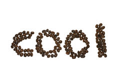 Cool type with coffee seed. Cool word typewrited with coffee seeds Stock Image