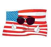Cool united states of america cartoon Royalty Free Stock Photo
