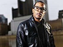 Cool urban african american man posing Stock Photos