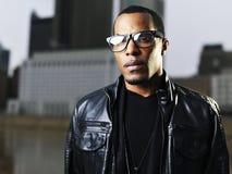 Cool urban african american man posing. Photo of a cool urban african american man posing Stock Photography