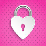 Cool valentine background with heart padlock Royalty Free Stock Images