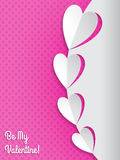 Cool valentine greeting card with hearts Royalty Free Stock Image