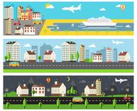 Cool Vector Cartooned Banners Stock Image