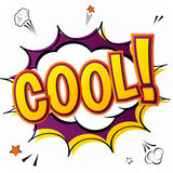 Cool. Vector comic book, speech bubble, explosion. Pop Art Style Royalty Free Stock Image