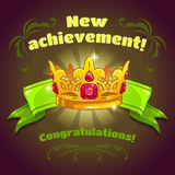 Cool vector illustration with golden crown Stock Photos