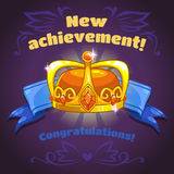 Cool vector illustration with king crown Royalty Free Stock Photo